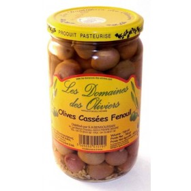 OLIVES CASSEES AU FENOUIL...