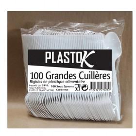 CUILLERES PLASTIQUE 100P...