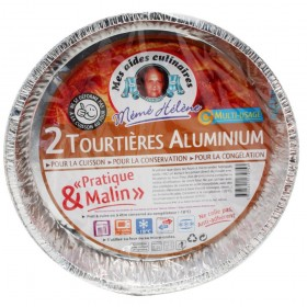 2 TOURTIERES ALUMINIUM LOT...