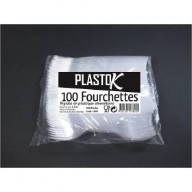 FOURCHETTES PLASTIQUES 100P...